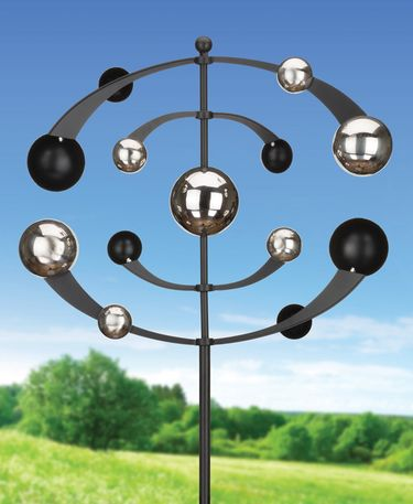 Chrome Orbits Wind Spinner - Click to enlarge