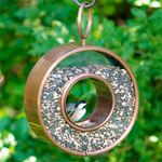 Circle Copper Fly-Thru Bird Feeder