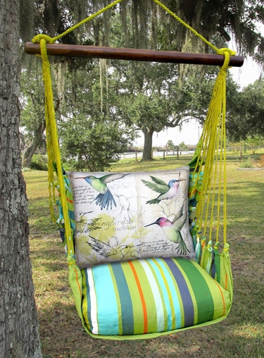 Citrus Hummingbird Study Hammock Chair Swing Set - Click to enlarge