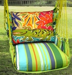 Citrus Stripe Alligator Hammock Chair Swing Set