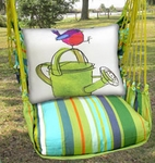 Citrus Stripe Bird w/Watering Can Hammock Chair Swing Set