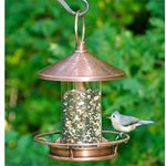 Classic Copper Fly-Thru Bird Feeder