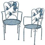 Coastal Sea Life Metal Chairs (Set of 2)