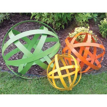 Color Garden Spheres Orbs (Set of 3) - Click to enlarge