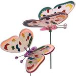 "6"" Colorful WindyWings Butterfly Garden Stakes (Set of 5)"