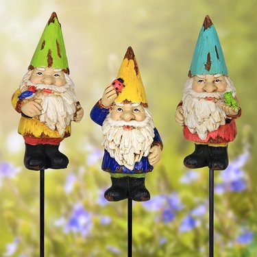 Colorful Gnome Pot Stakes (Set of 4) - Click to enlarge