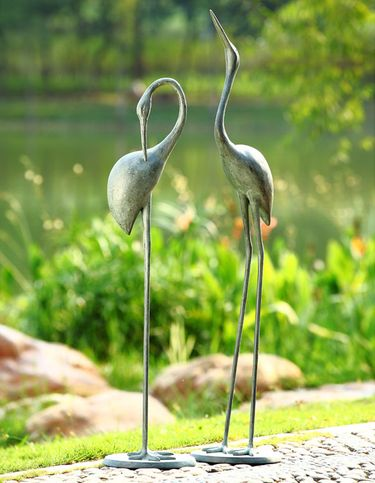 Contemplative Garden Cranes (Set of 2) - Click to enlarge