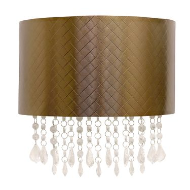 Copper Chevron Textured Sconce - Click to enlarge