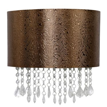 Copper Flower Textured Sconce - Click to enlarge