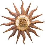 Copper Mosaic Sun Wall Art