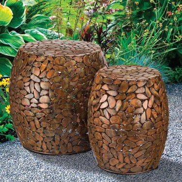 Copper Pebbles Garden Stools & Planters (Set of 2) - Click to enlarge