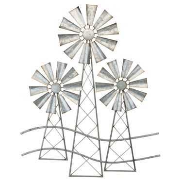 Country Windmills Wall Decor (Set of 2) - Click to enlarge