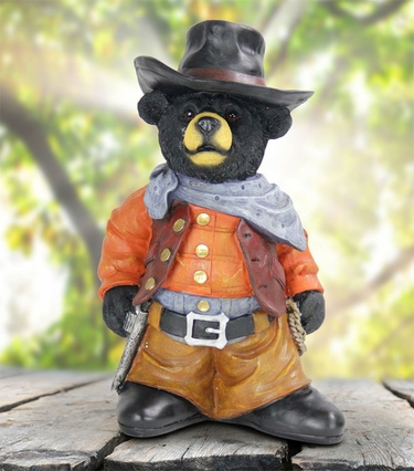 Cowboy Bear Statue - Click to enlarge