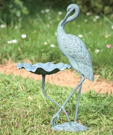 Crane Birdbath / Feeder - Click to enlarge