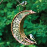 Crescent Moon Copper Fly-Thru Bird Feeder
