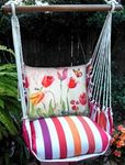 Cristina Stripe Aviary Butterfly Hammock Chair Swing Set