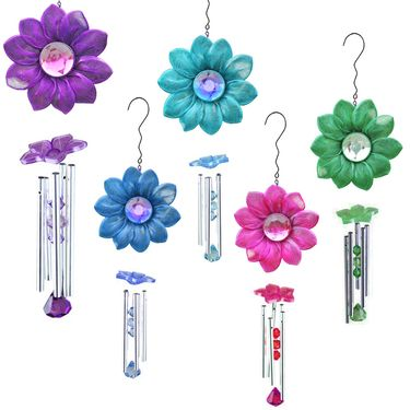 Dazzling Daisy Wind Chimes - Click to enlarge
