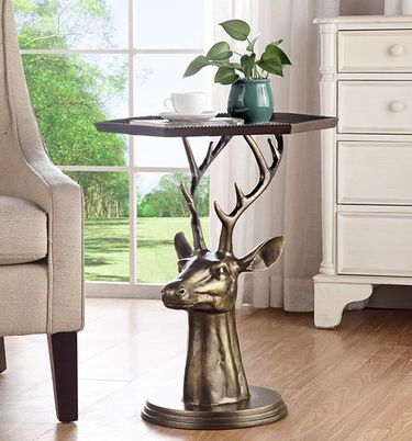 Deer Bust End Table - Click to enlarge