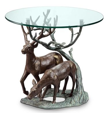 Deer Pair End Table - Click to enlarge