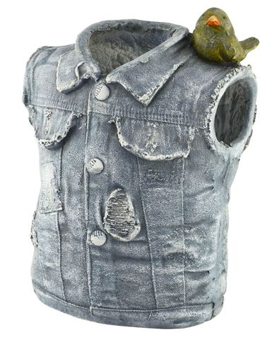 Denim Vest Planter - Click to enlarge