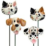 Playful Dog & Cat Plant Stakes (Set of 4)