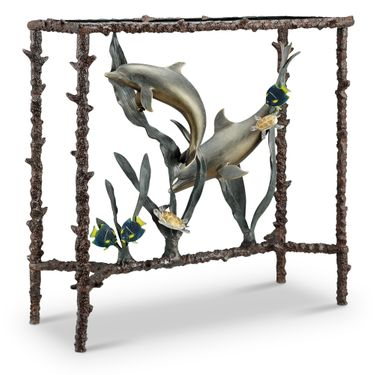 Dolphin Duo Lobby Table - Click to enlarge