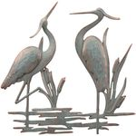 Double Heron Wall Art Decor