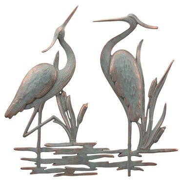 Double Heron Wall Art Decor - Click to enlarge