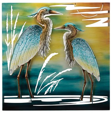 Double Heron Wall Decor - Click to enlarge