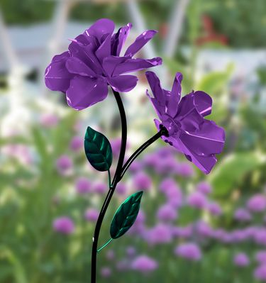Dual Spinner Rose Garden Stake - Purple - Click to enlarge