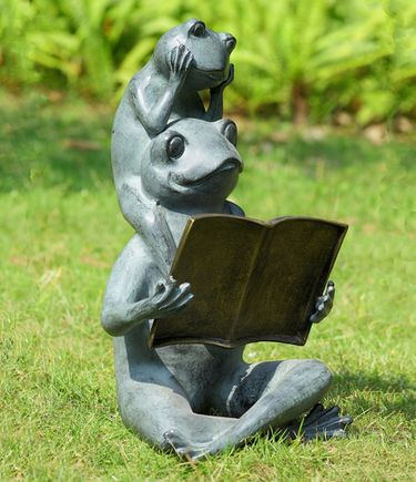 Eager Readers Garden Sculpture - Click to enlarge