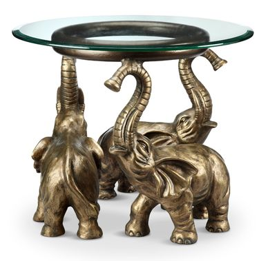 Elephant Trio End Table - Click to enlarge