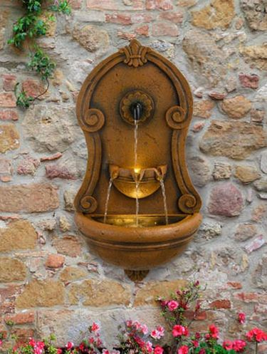 European Wall Fountain w/LED Lights - Click to enlarge