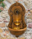 European Wall Fountain w/LED Lights