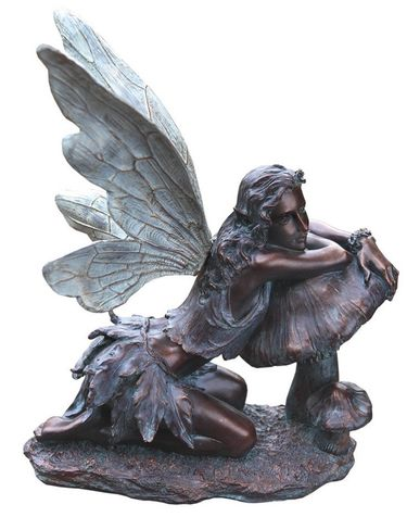 Bronze Fairy on Mushroom - Click to enlarge