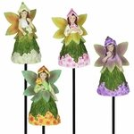 Fairy with Floral Skirt Stakes (Set of 4)
