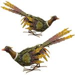 Fall Pheasant Birds - Downwards (Set of 2)