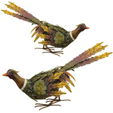 Fall Pheasant Birds - Downwards (Set of 2) - Click to enlarge