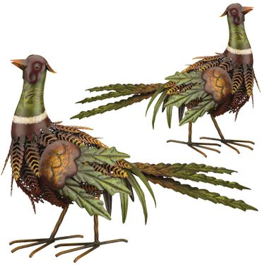 Fall Pheasant Birds - Upwards (Set of 2) - Click to enlarge