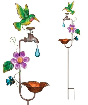 Faucet Hummingbird Feeder Stakes (Set of 2) - Click to enlarge