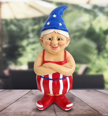 Female Patriotic Naked Gnome - Click to enlarge