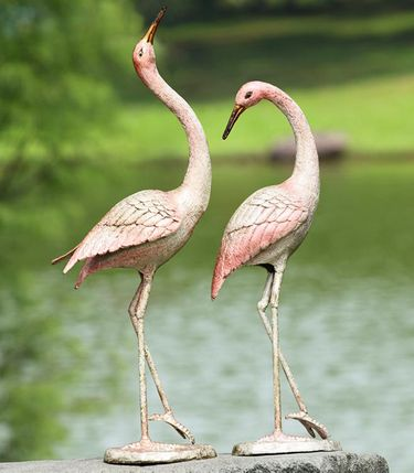 Flamboyant Garden Cranes (Set of 2) - Click to enlarge
