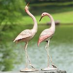 Flamboyant Garden Cranes (Set of 2)