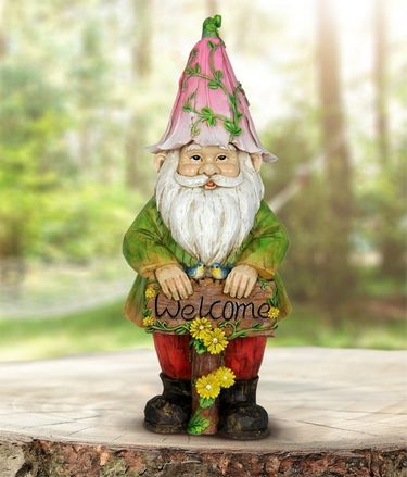 Flower Cap Welcome Gnome - Click to enlarge