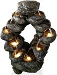 Flowing Falls Outdoor LED Rock Fountain
