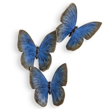 Fluttering Blue Butterflies Wall Art - Click to enlarge