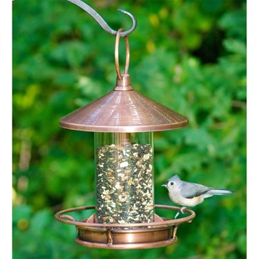 Classic Copper Fly-Thru Bird Feeder - Click to enlarge