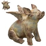 Flying Pig Statues (Set of 2)