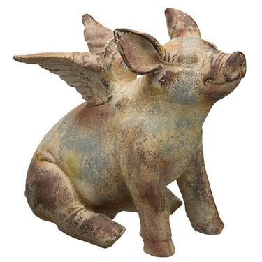Flying Pig Statues (Set of 2) - Click to enlarge