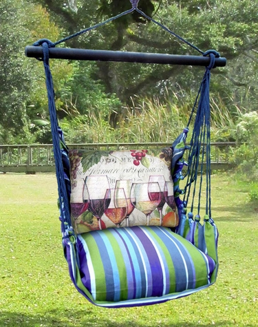 Folsom Wine Line Hammock Chair Swing Set - Click to enlarge